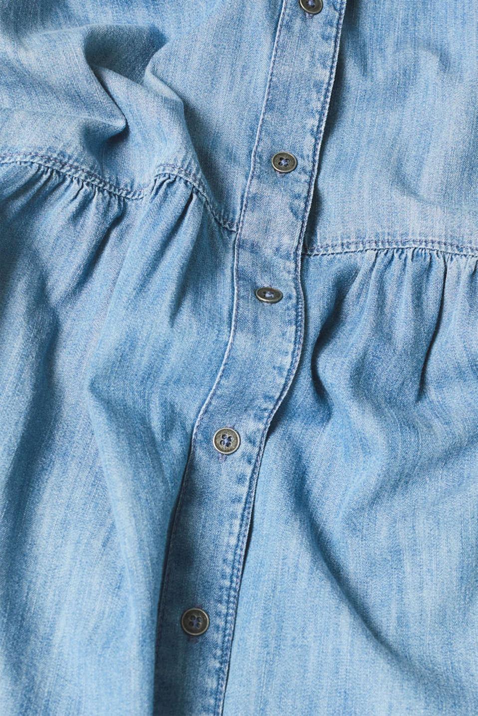 Dresses light woven, GREY BLUE, detail image number 5