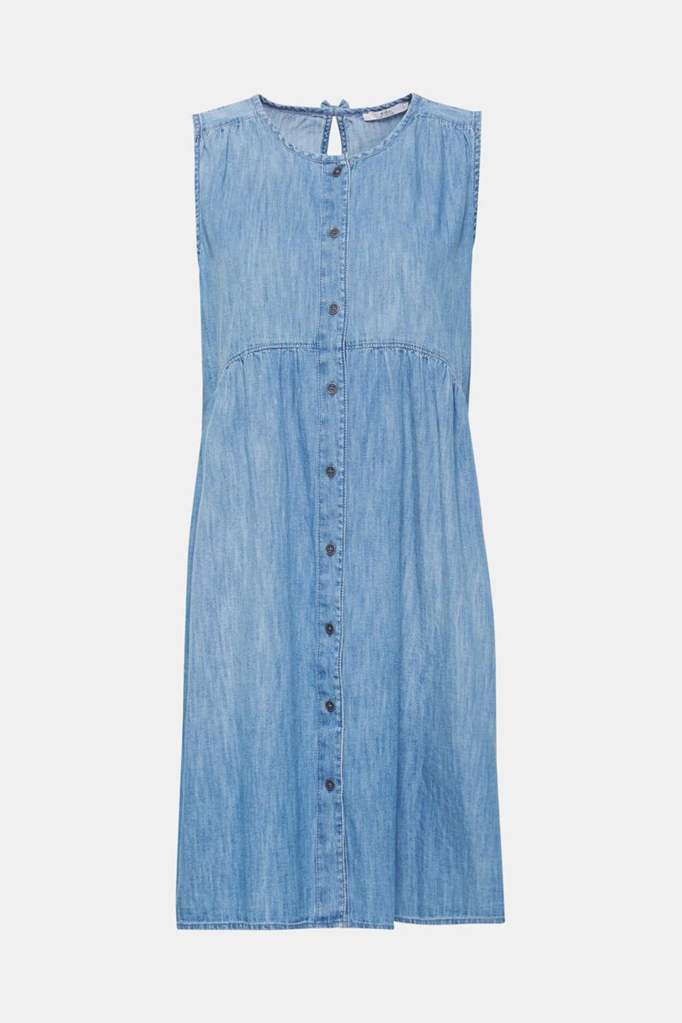 Dresses light woven, GREY BLUE, detail image number 7