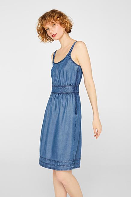 ef580f3729 Dżinsowa sukienka na ramiączkach z TENCELU™ · Niebieski