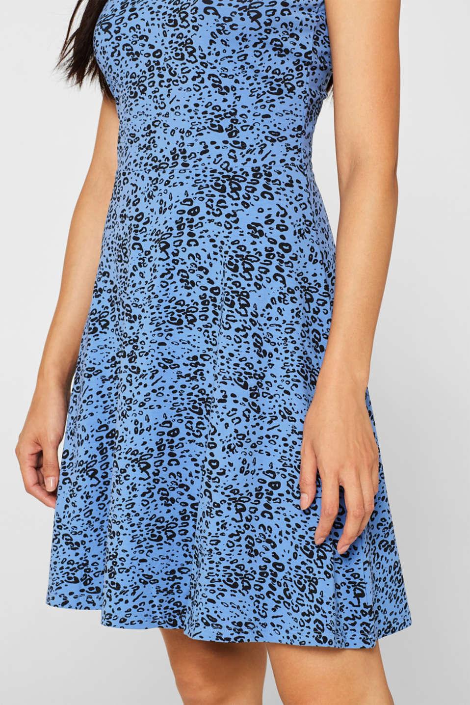 Flared dress made of stretch jersey, BLUE LAVENDER, detail image number 5