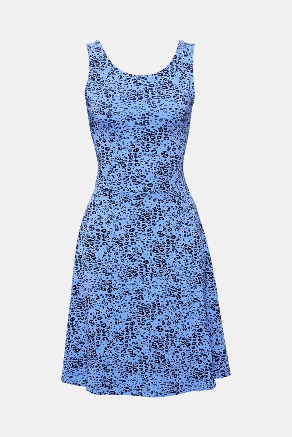 Flared dress made of stretch jersey, BLUE LAVENDER, detail image number 6
