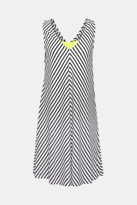Stretch jersey dress with a neon-coloured slip, OFF WHITE, detail