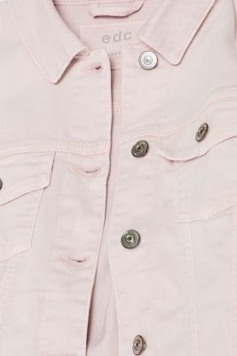 Stretch denim jacket made of coloured denim