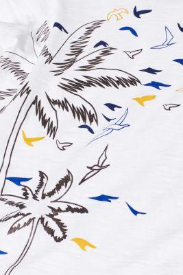 Slub T-shirt with front print, 100% cotton