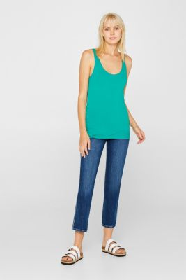 Stretch vest containing organic cotton, EMERALD GREEN 4, detail