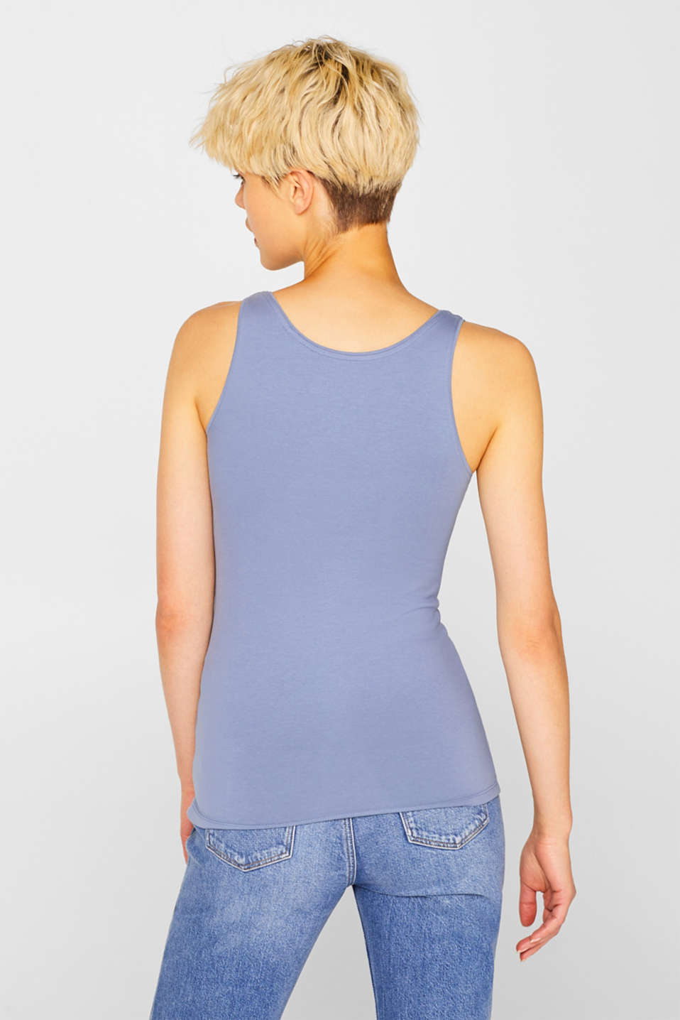 Stretch vest containing organic cotton, GREY BLUE 2, detail image number 3