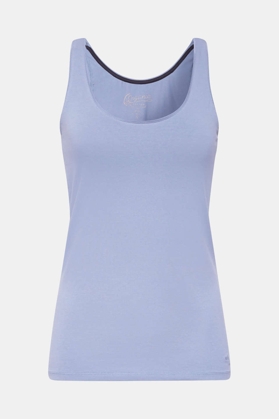 Stretch vest containing organic cotton, GREY BLUE 2, detail image number 5