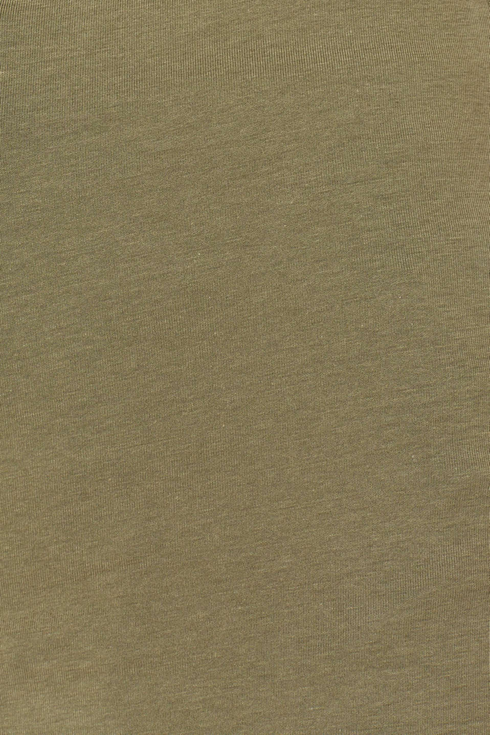Long top with organic cotton, 100% cotton, KHAKI GREEN 4, detail image number 4