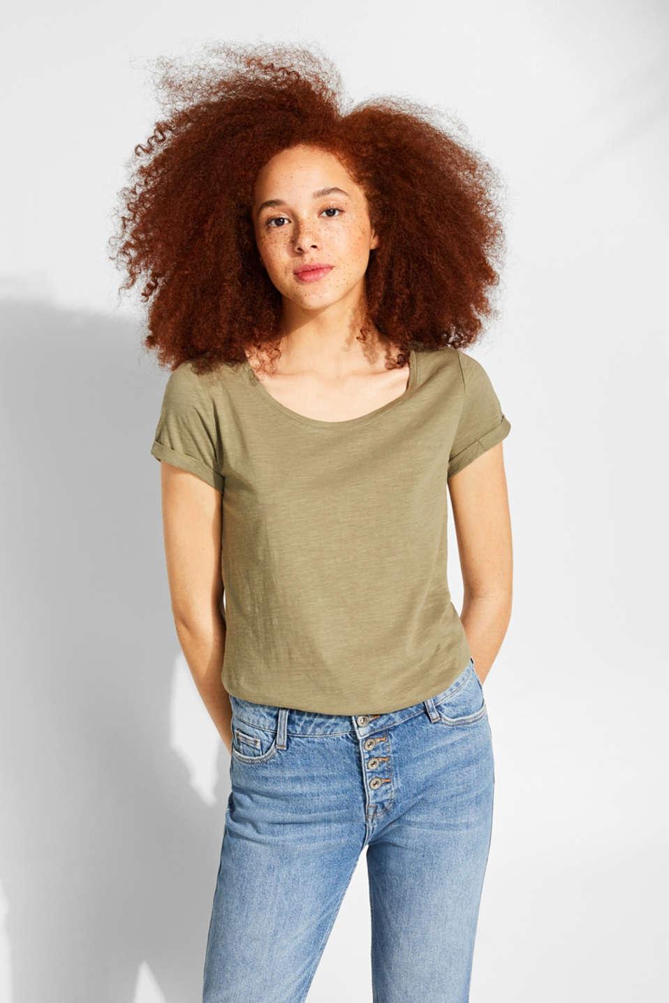 T-Shirts, KHAKI GREEN 4, detail image number 0