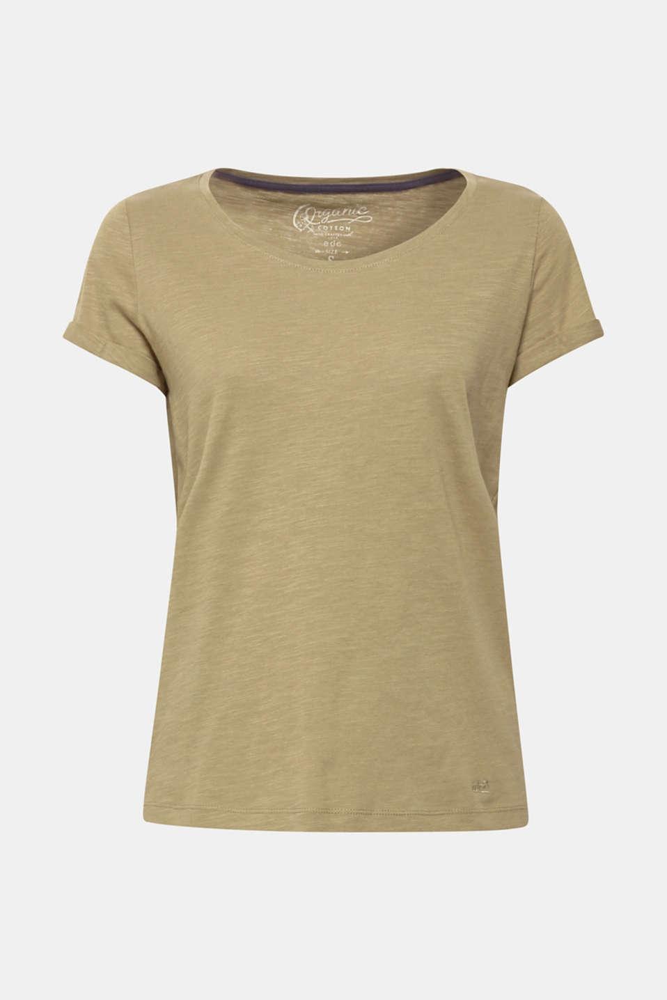 T-Shirts, KHAKI GREEN 4, detail image number 6