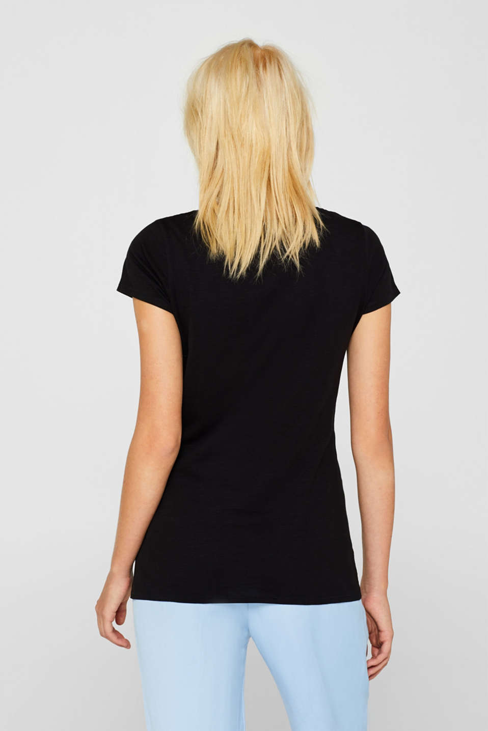 Slub T-shirt in 100% cotton, BLACK, detail image number 3