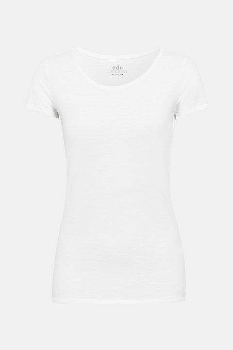 Slub T-shirt in 100% cotton