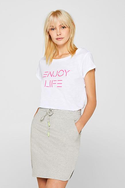 4d7ade690 Slub T-shirt with a neon statement, 100% cotton