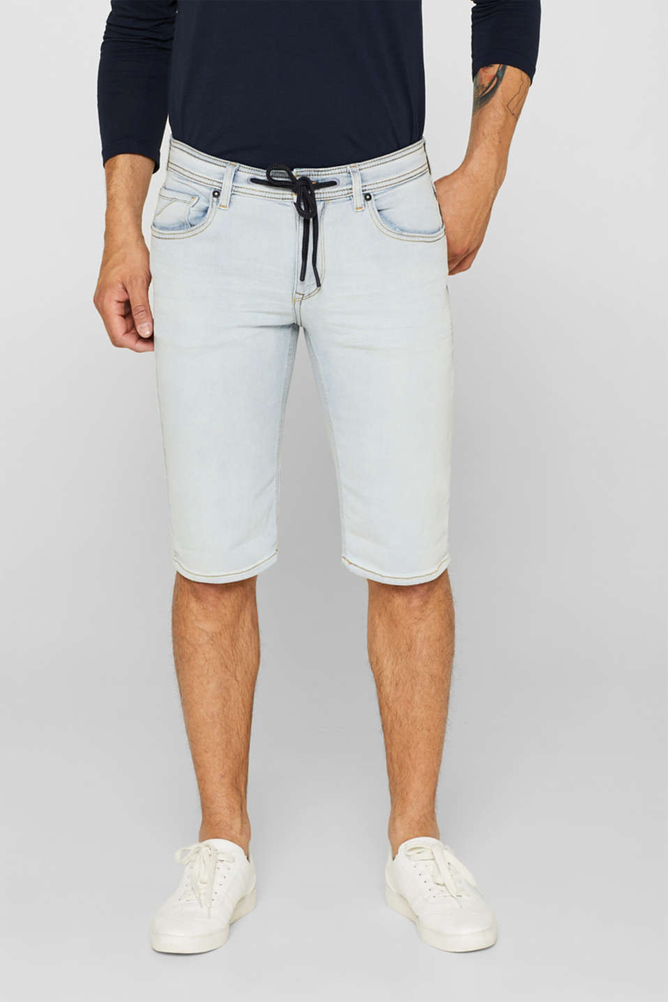 edc - Superstretch-Jeansshorts in Jogger-Qualität