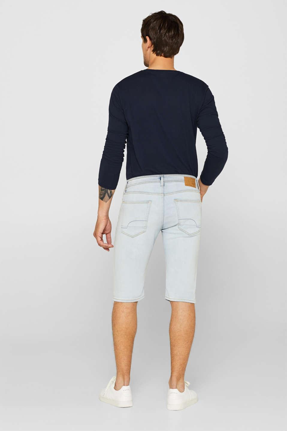 Shorts denim, BLUE BLEACHED, detail image number 3