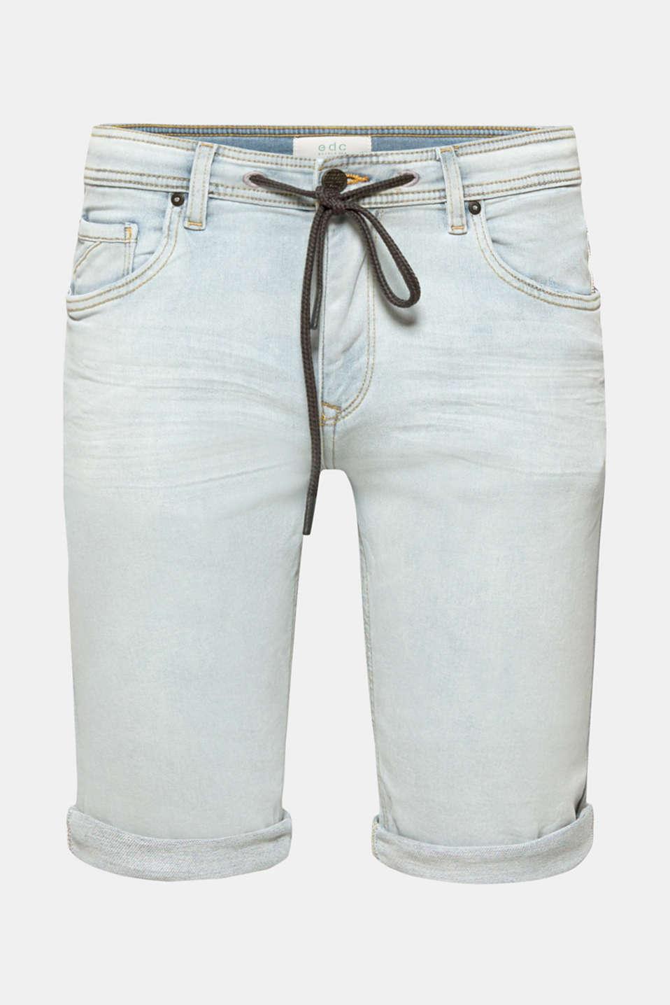 Shorts denim, BLUE BLEACHED, detail image number 5