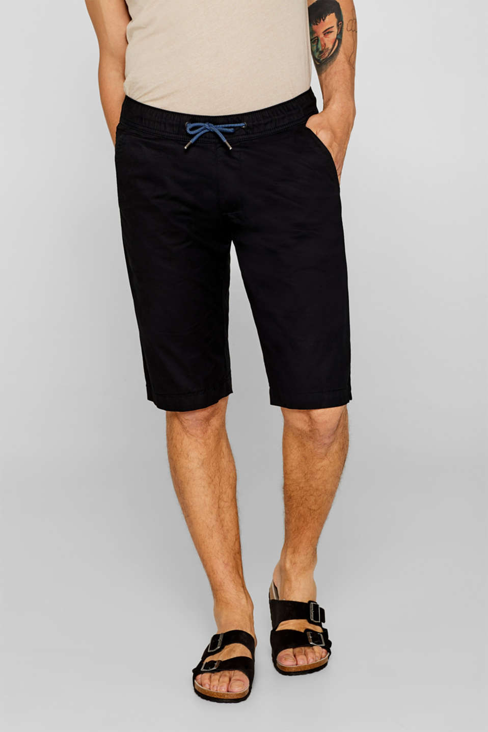 edc - Drawstring Bermudas, 100% cotton
