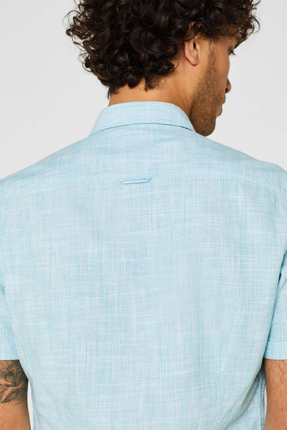 Shirts woven Slim fit, LIGHT AQUA GREEN, detail image number 5