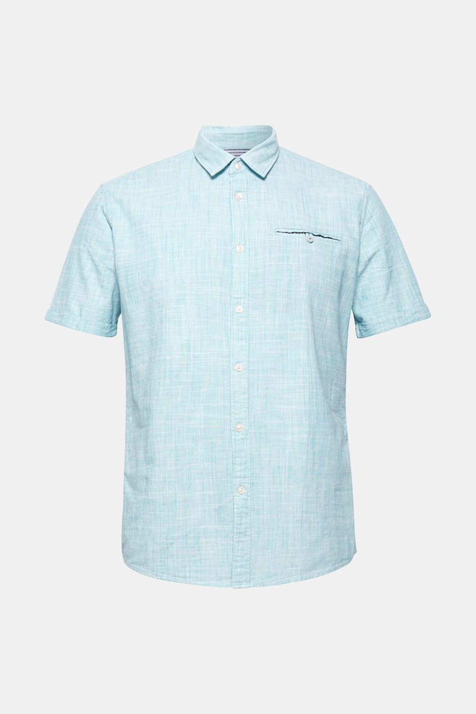 Shirts woven Slim fit, LIGHT AQUA GREEN, detail image number 6
