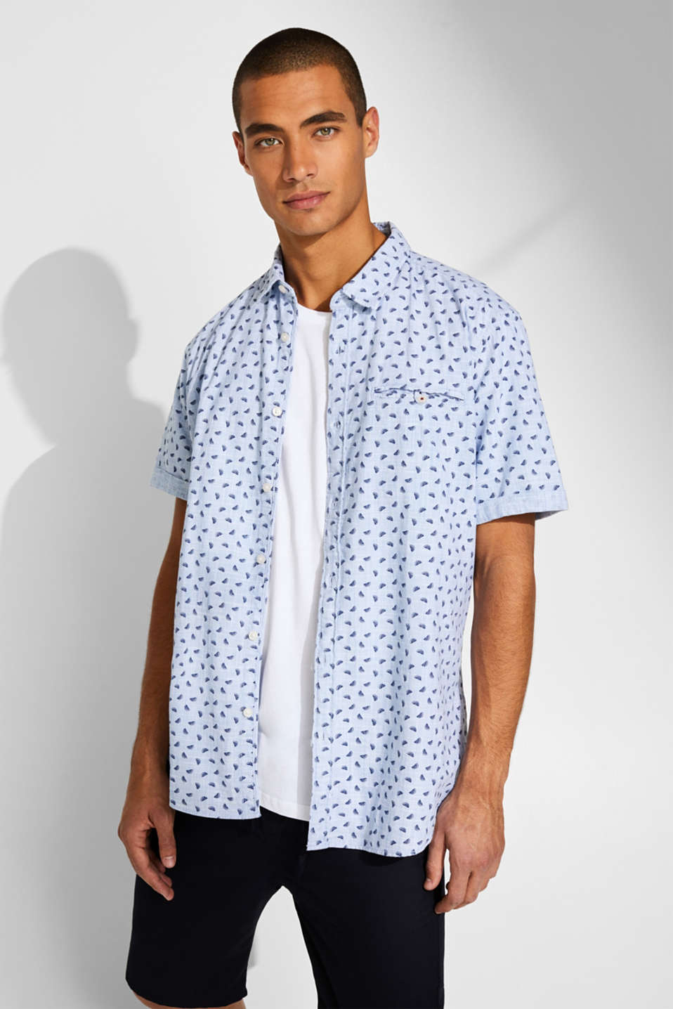 Short sleeve shirt with melon print, 100% cotton