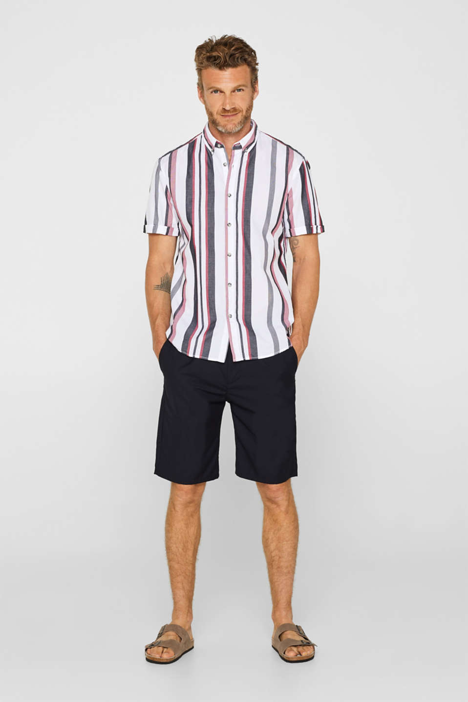 Shirts woven Regular fit, WHITE, detail image number 1