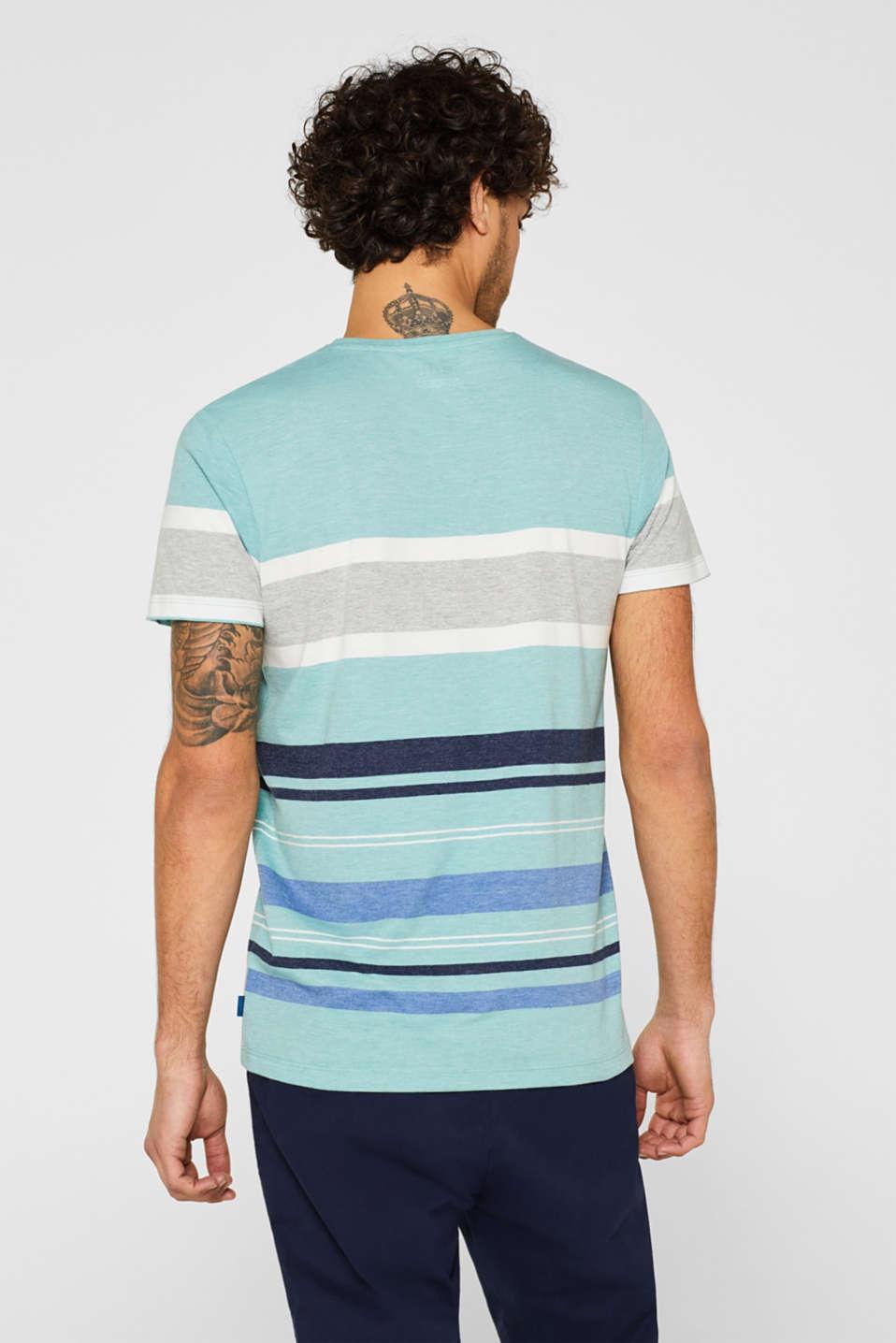 Striped jersey T-shirt, LIGHT AQUA GREEN, detail image number 3