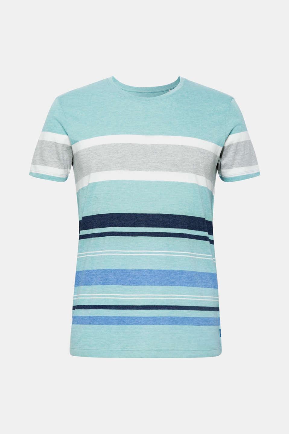 Striped jersey T-shirt, LIGHT AQUA GREEN, detail image number 6