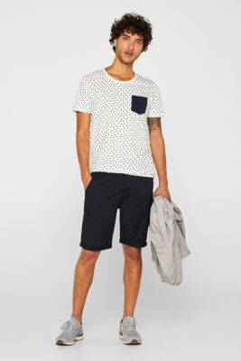 Jersey top with an all-over print, 100% cotton, OFF WHITE, detail