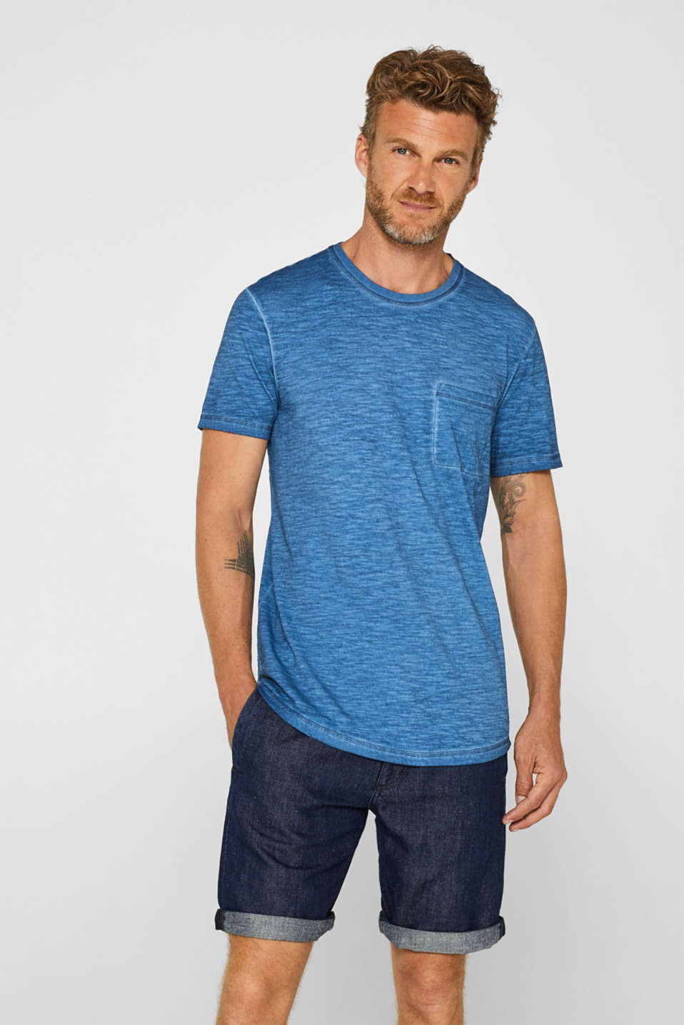 edc - Long slub jersey T-shirt, 100% cotton