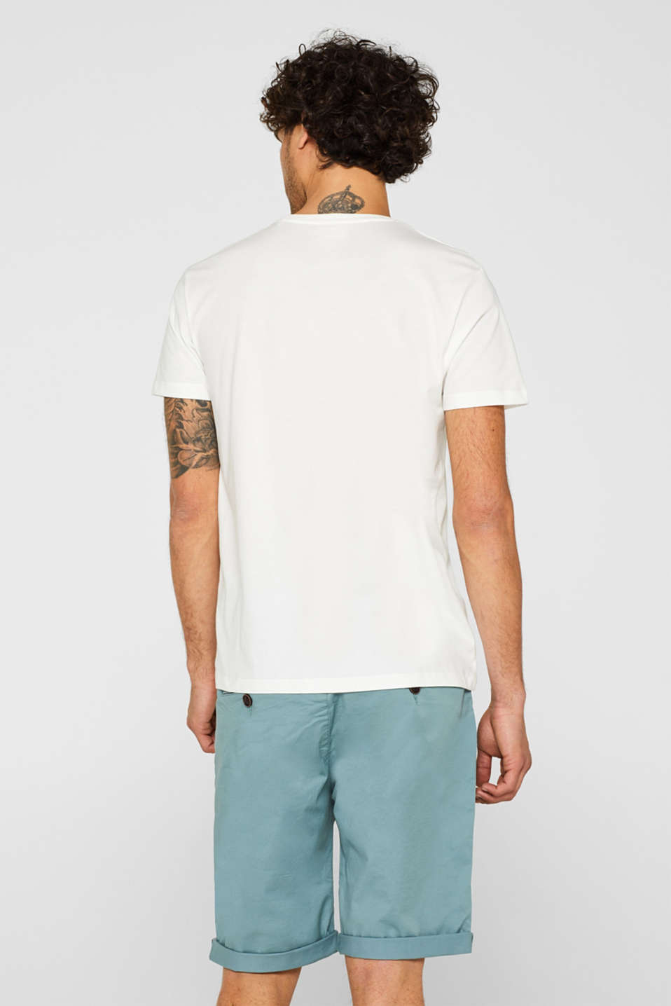 Jersey T-shirt with a print, 100% cotton, OFF WHITE, detail image number 3