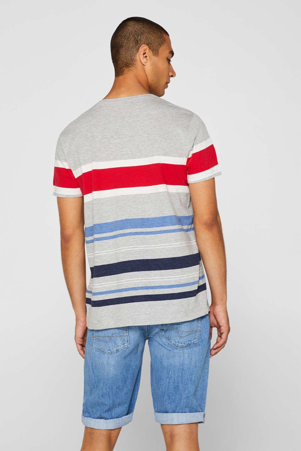 Striped jersey T-shirt, MEDIUM GREY, detail image number 3