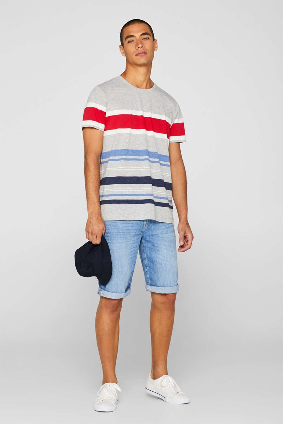 Striped jersey T-shirt, MEDIUM GREY, detail image number 2