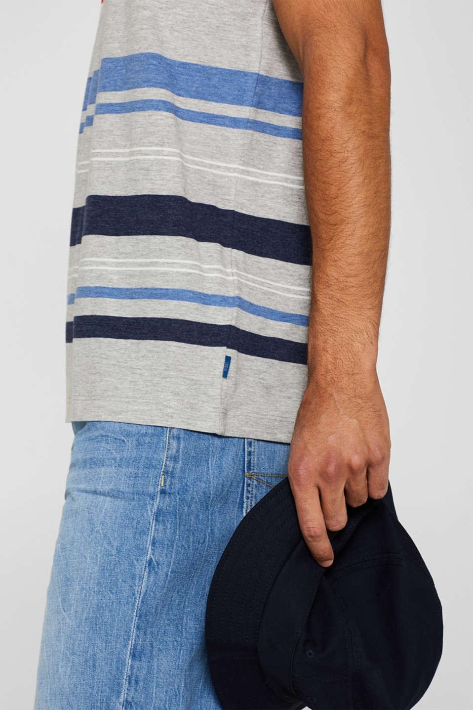 Striped jersey T-shirt, MEDIUM GREY, detail image number 1