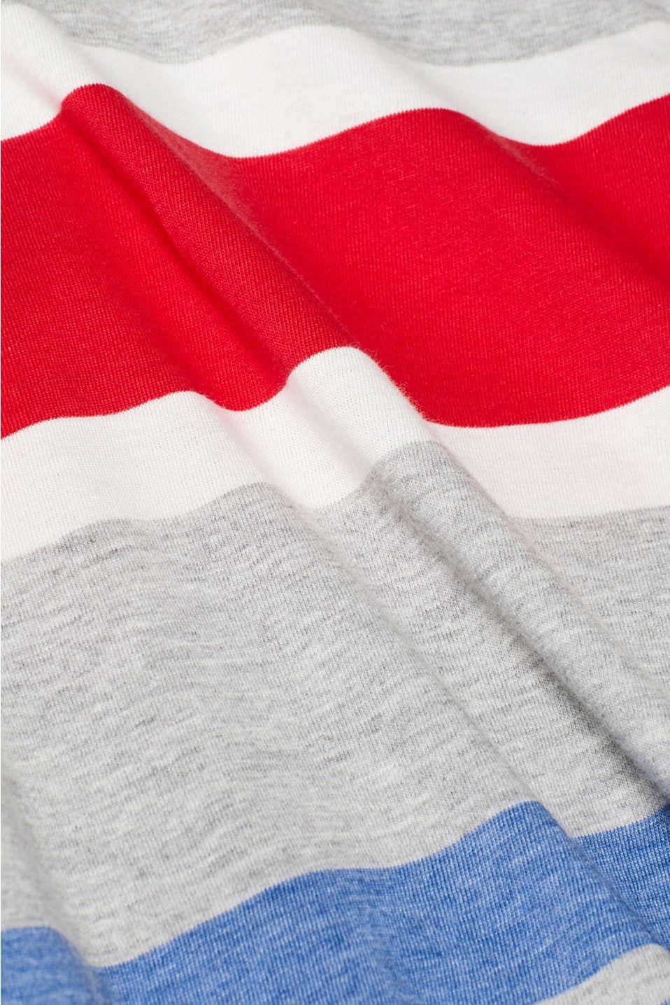 Striped jersey T-shirt, MEDIUM GREY, detail image number 4