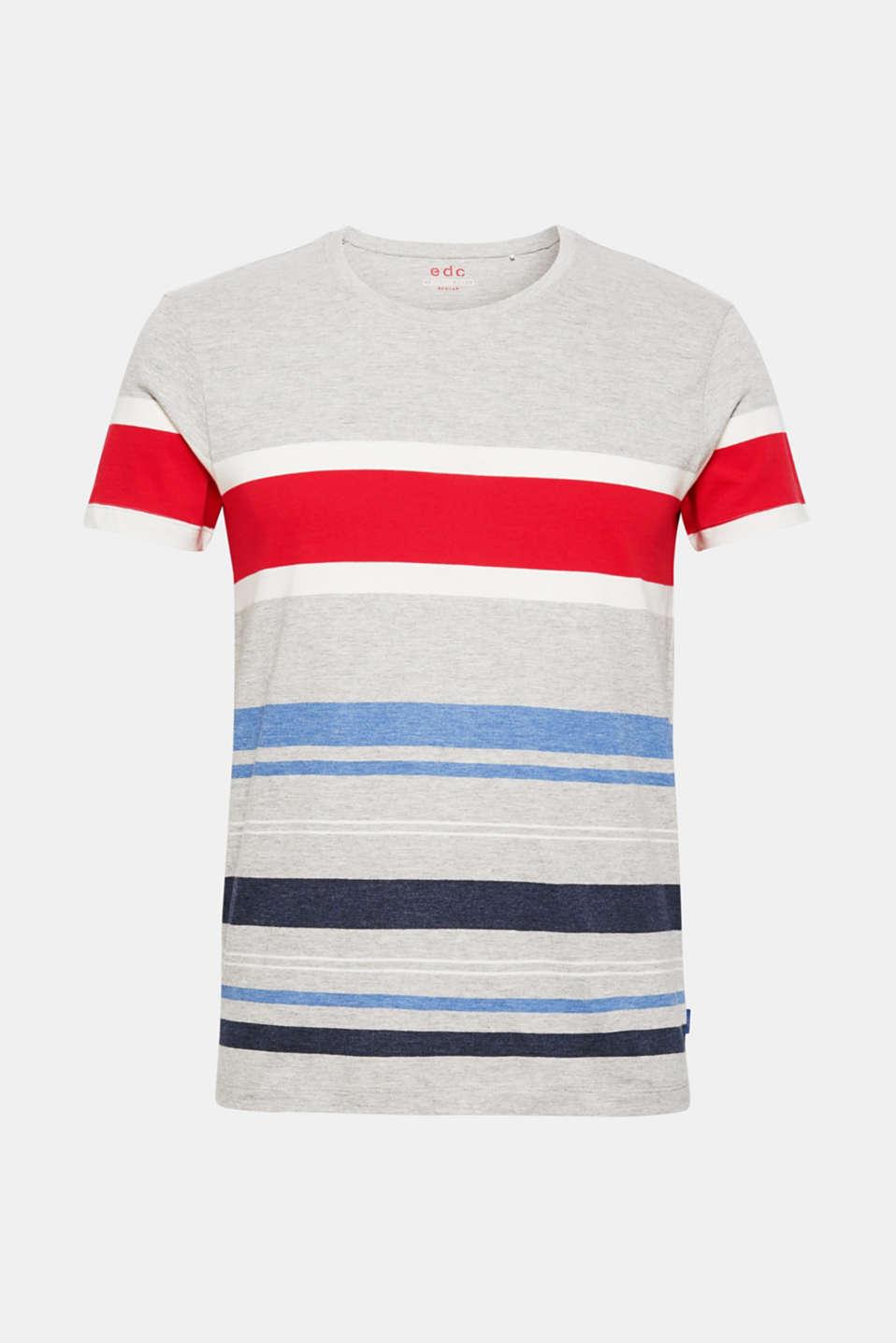 Striped jersey T-shirt, MEDIUM GREY, detail image number 6