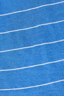 100% cotton-jersey tee with textured stripes, BLUE, detail