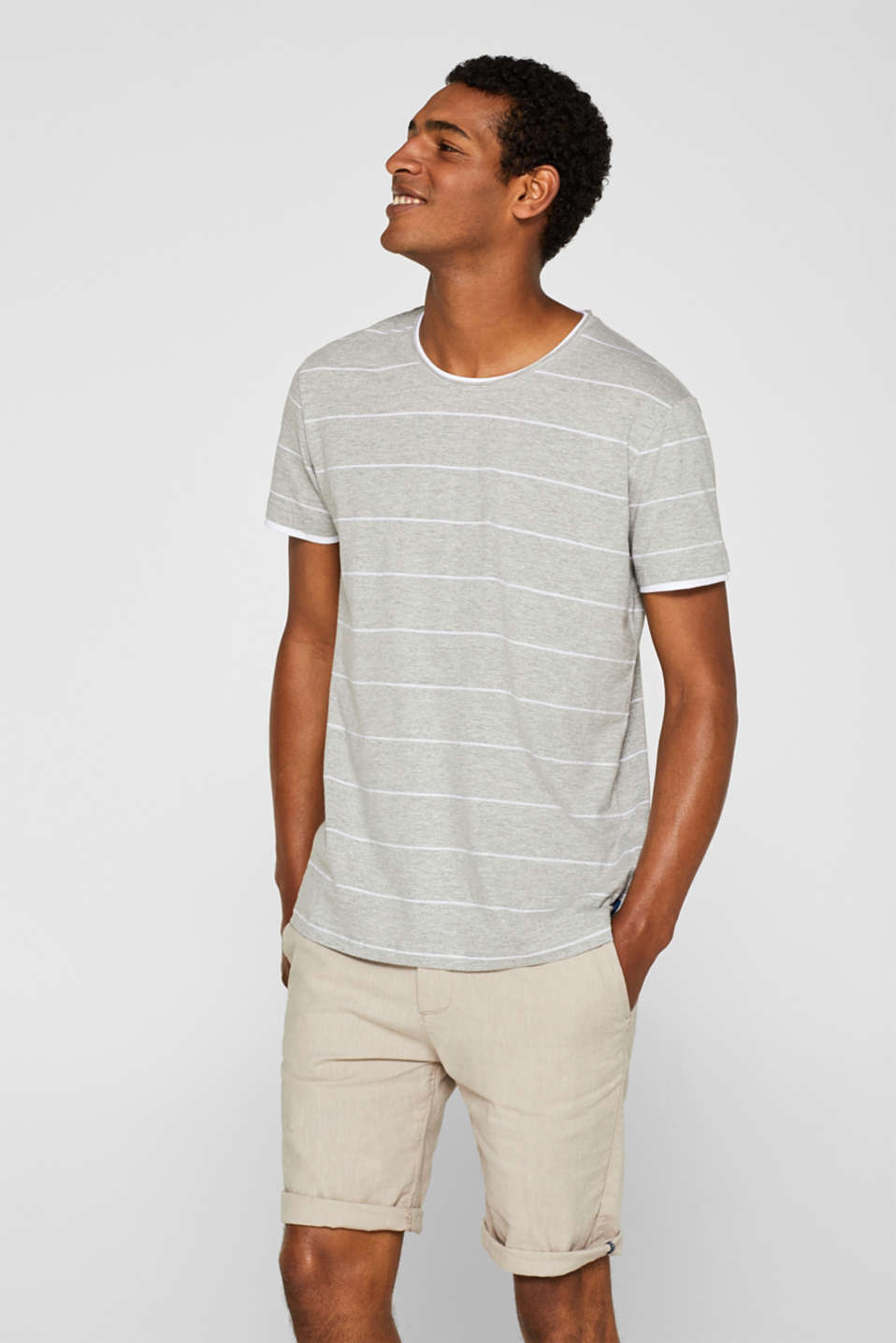 edc - Jersey T-shirt with textured stripes