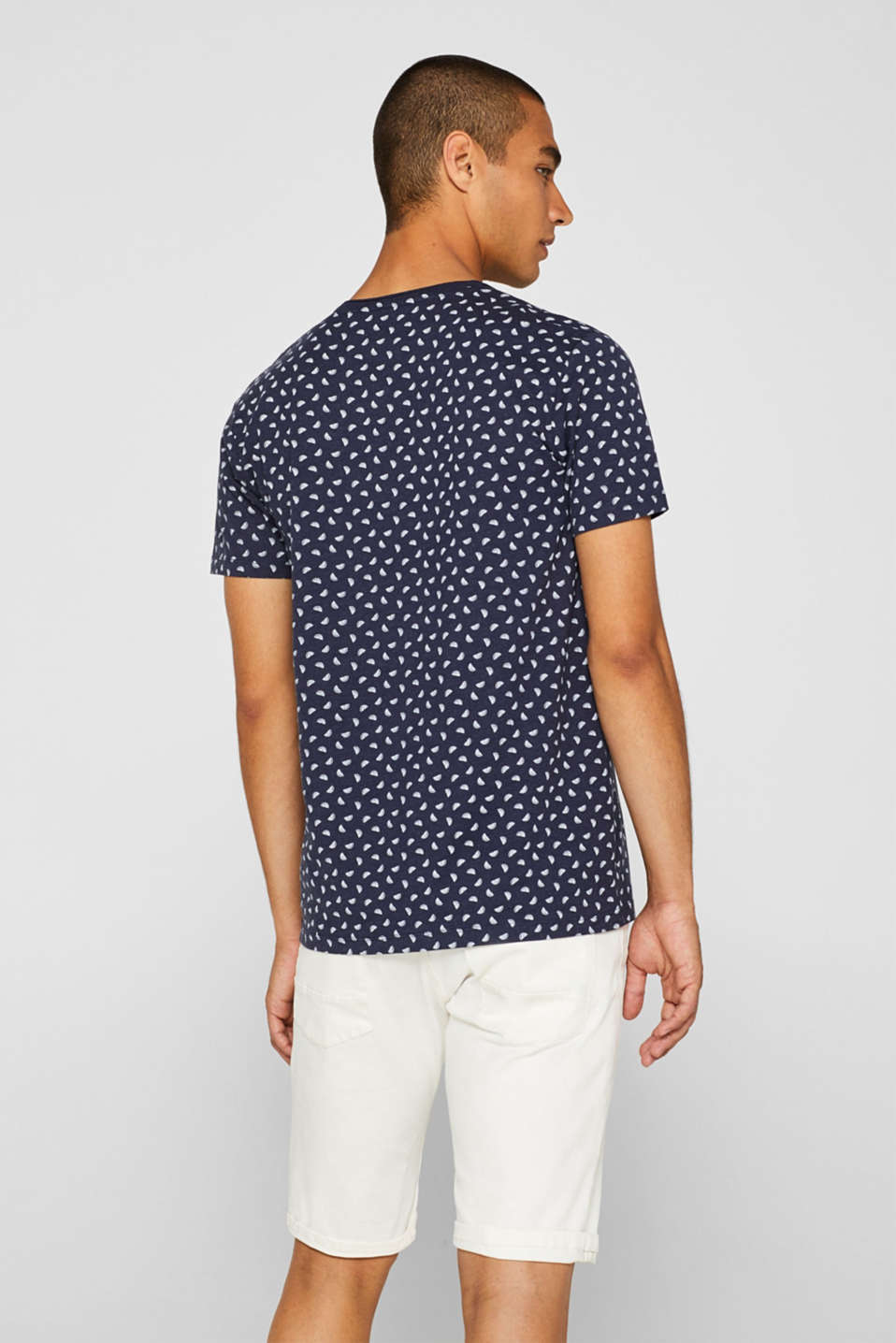 Jersey T-shirt with melon print, NAVY, detail image number 3