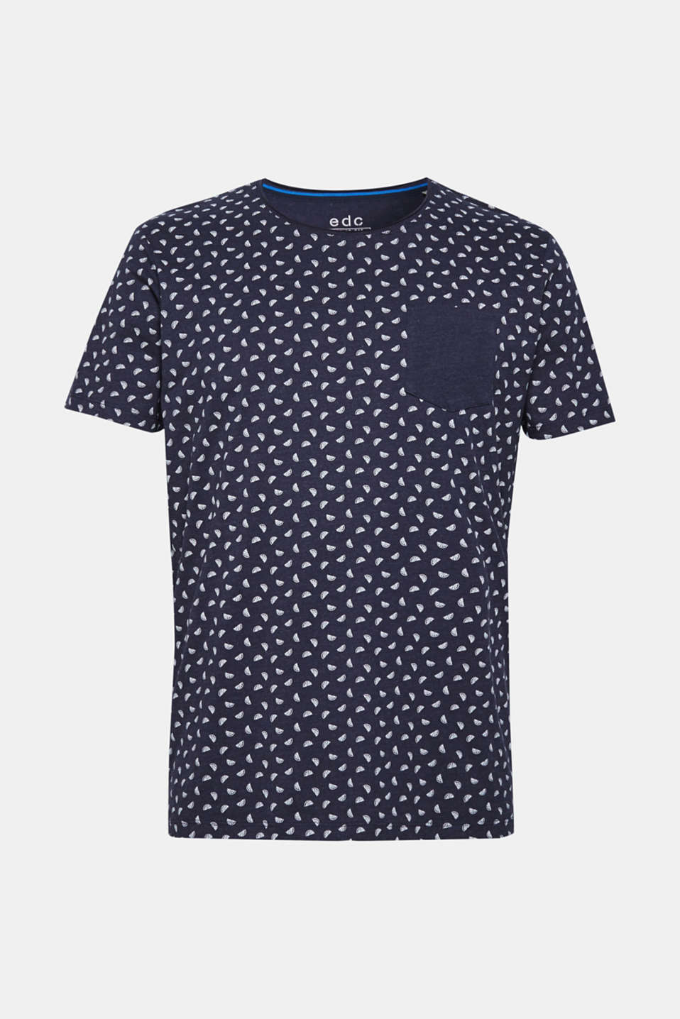 Jersey T-shirt with melon print, NAVY, detail image number 6
