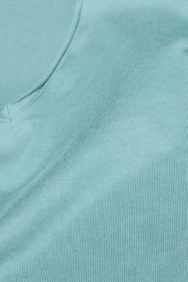 Jersey T-shirt in 100% cotton, DUSTY GREEN, detail
