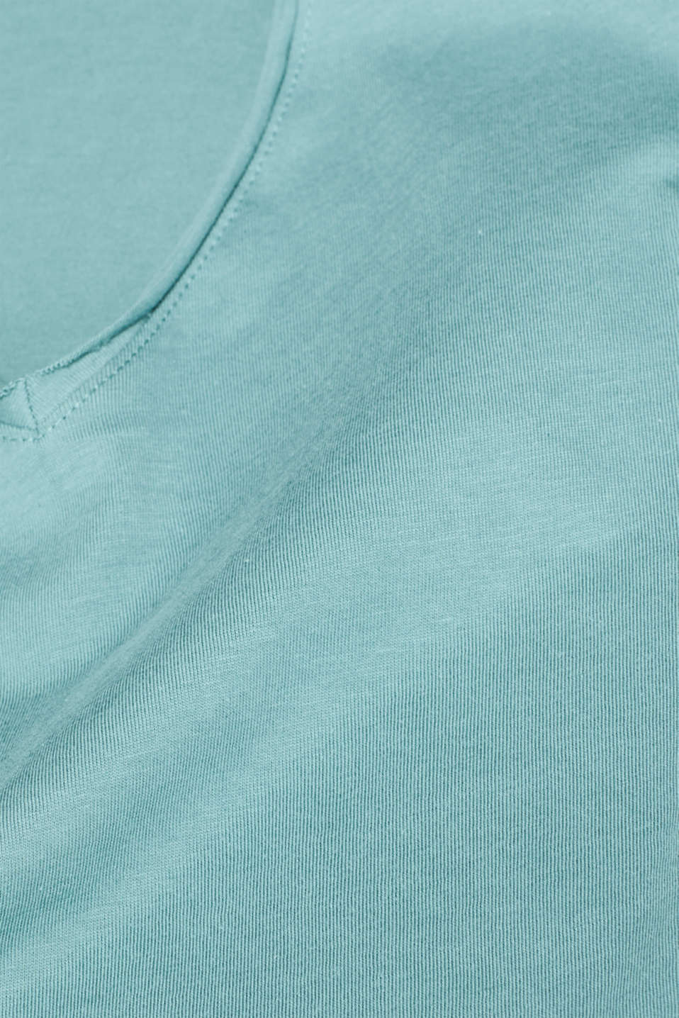 Jersey T-shirt in 100% cotton, DUSTY GREEN, detail image number 4