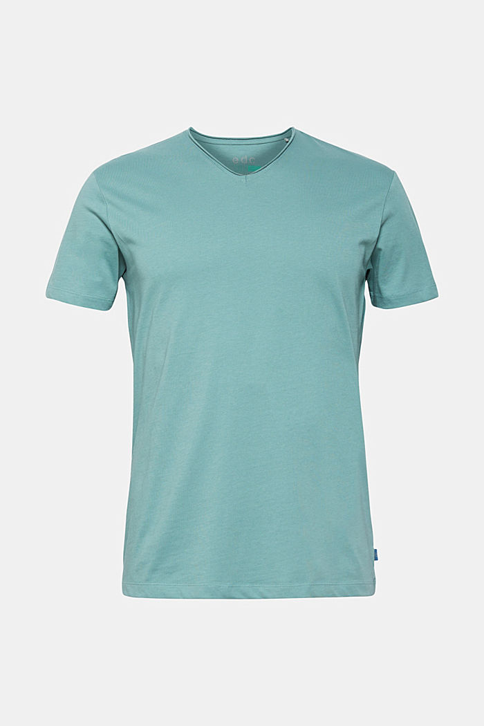 Jersey T-shirt in 100% cotton, DUSTY GREEN, detail image number 0