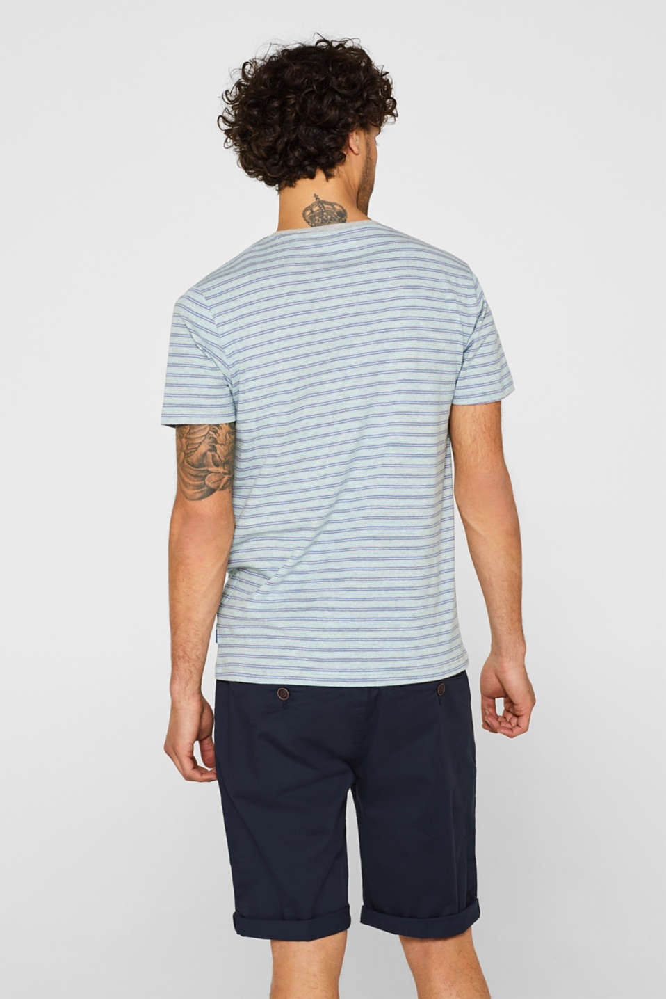 Striped jersey T-shirt, MEDIUM GREY, detail image number 3