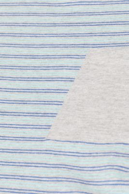 Striped jersey T-shirt, MEDIUM GREY, detail