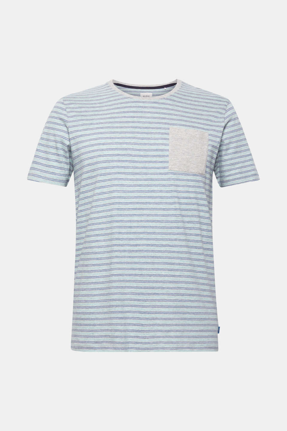 Striped jersey T-shirt, MEDIUM GREY, detail image number 5