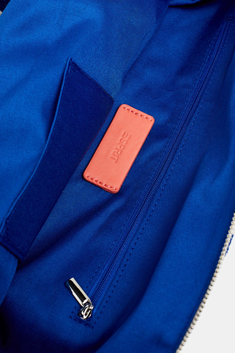Striped cotton/canvas tote bag, BRIGHT BLUE, detail image number 4