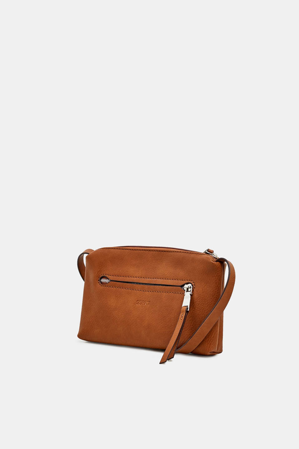 Small faux leather shoulder bag, RUST BROWN, detail image number 2