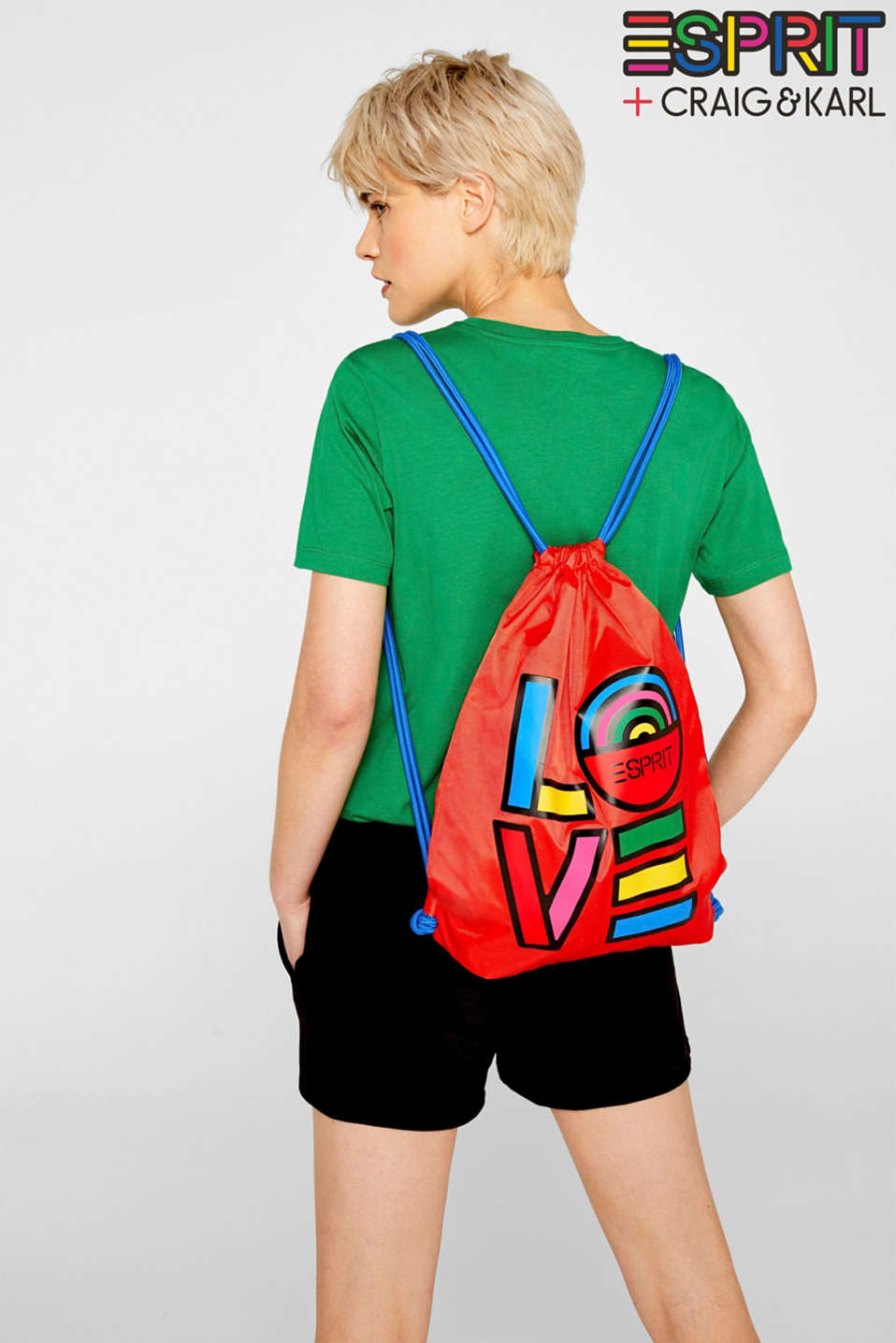CRAIG & KARL: love print gym bag
