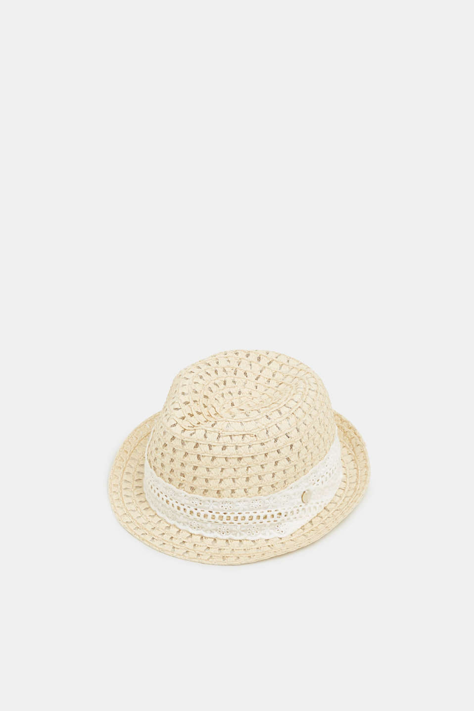 Esprit - Braided trilby hat made of straw
