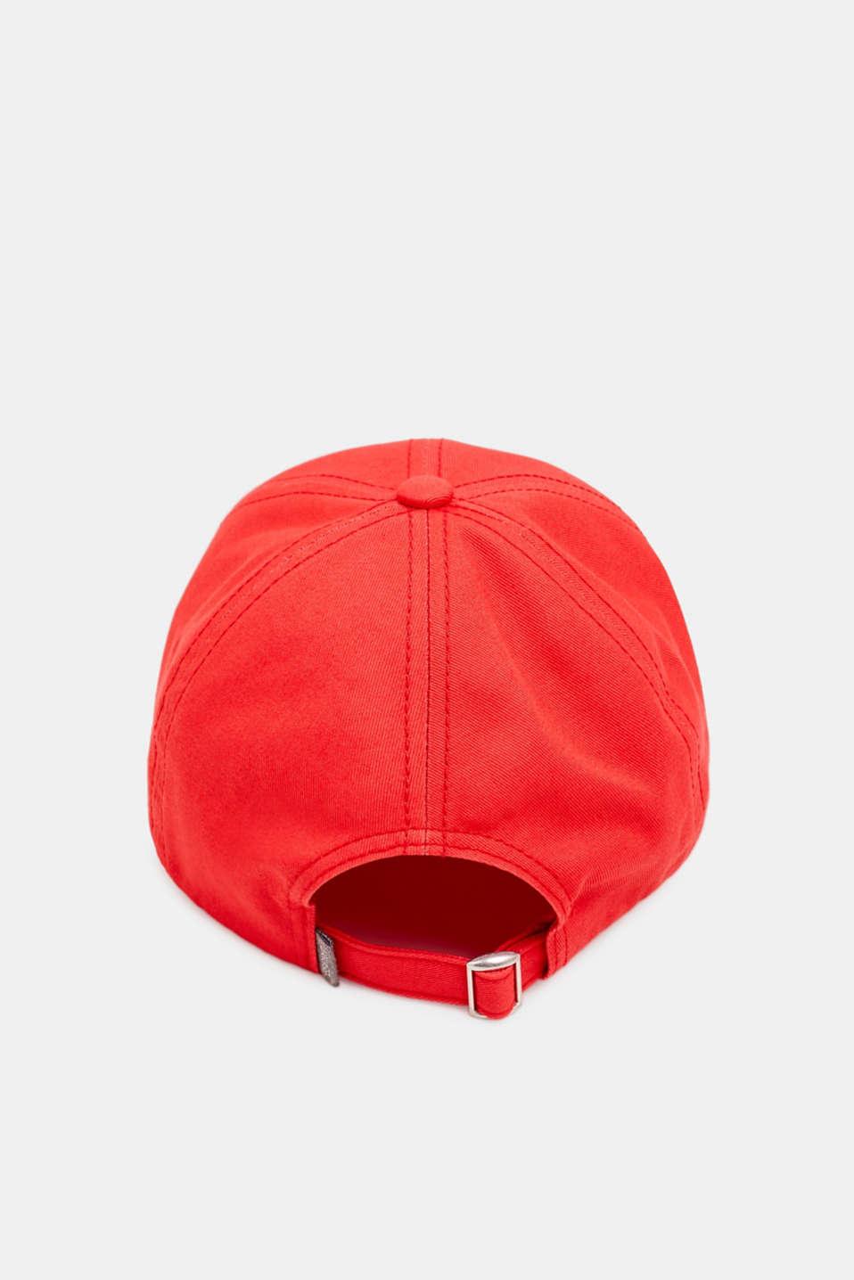 CRAIG & KARL: 100% cotton baseball cap, RED, detail image number 3